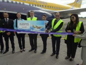 Vol inaugural Strasbourg/Oujda avec ASL Airlines France