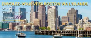 Promotion Wow Air: Vols A/R pour Boston à seulement 399€, taxes incluses !