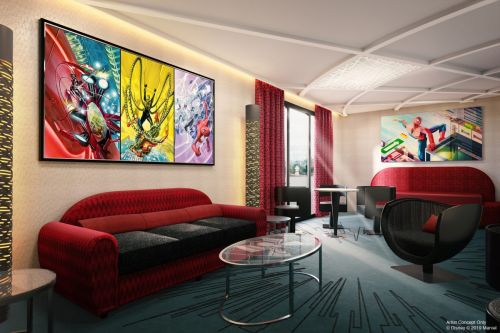 Un nouvel aperçu du Disney's Hotel New York - The Art of Marvel révélé à la D23 Expo 2019