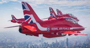 Les Red Arrows survolent Manhattan