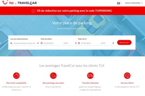 Parking:  TravelCar partenaire de TUI France
