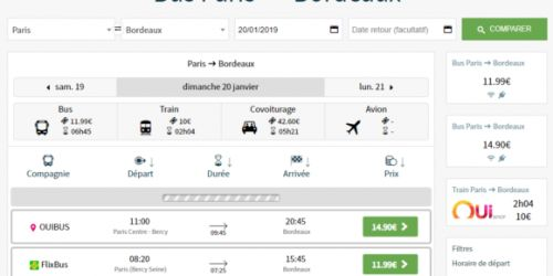 ComparaBUS:  le comparateur de bus, train, covoiturage et avion